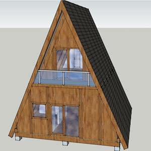 Izgradjena-montazna kuca od drveta brvnara od strane firme Hrast Petkovic -ALPSKA-brvnara brvnara od poluoblica debljine 7 cm -Svilajnac-projekat