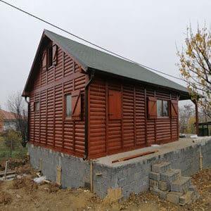 Izgradjena drvena montazna brvnara hrast petkovic